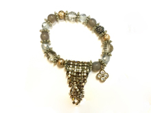 Material: Natural Stones/Crystals/Glass/Pave' Beads/Antique Silver Elements