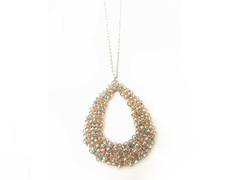 Material: Crystal + Silver plated rhodium