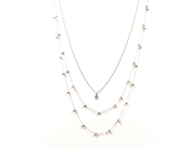 Material :  Metallic Crystal/ Champagne Crystal Drop/  3 Layers Light Gold Brass Chains