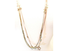 Material: Colorful Glass & Crystal Beads/ 8 Strands Oxide Layering Colorful Chains /Clear Crystal Cube Drop