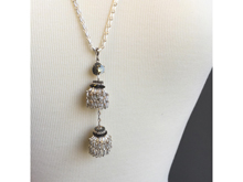 Material: Crystal + Oxide White Brass Chains