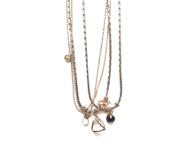 Material: Crystal + Brass Chains