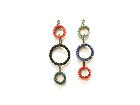 Material: Multi Colors Crystal/Colors Oxide Chains/Antique Brass Base Metal/Gold Plated Sterling Silver Hook