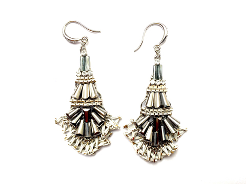 Material: Multi Colors Crystal/Antique Brass Base Metal/Gold Plated Sterling Silver Hook