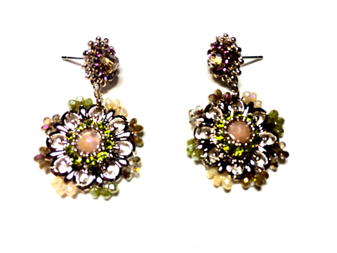 Material: Multi Colors Crystal/Antique Brass Base Metal/Gold Plated Sterling Silver Posts
