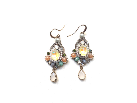 Material: Multi Color Opal Crystals, Pearls, Natural Beads