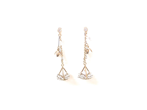 Material: Metallic Silver Crystal Beads. Crystalized. Pearl Drop Beads. Antique Gold Base Metal.  Sterling Silver Posts